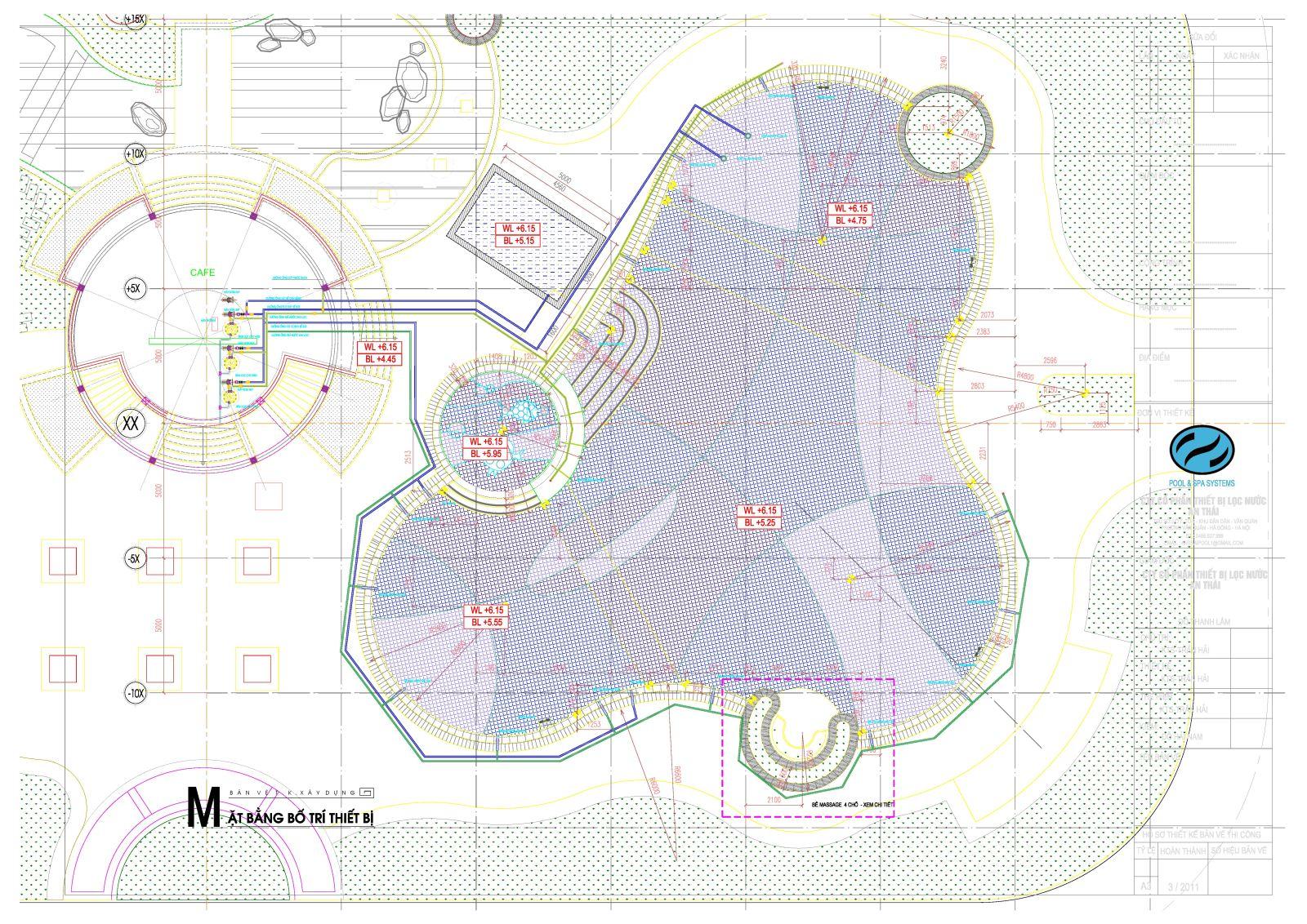 Bản vẽ thiết kế bể bơi