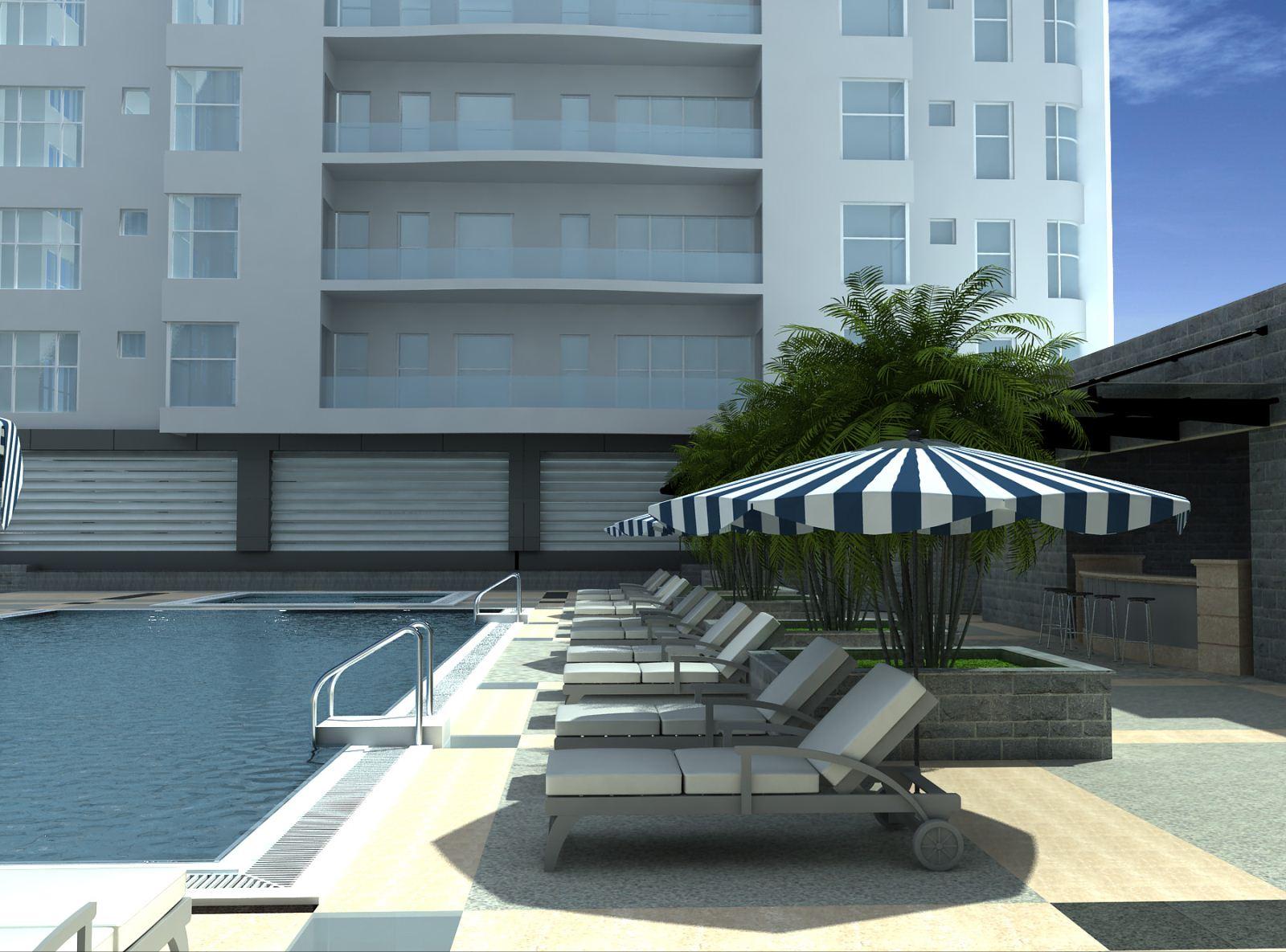 Bản vẽ phối cảnh thiết kế bể bơi 04