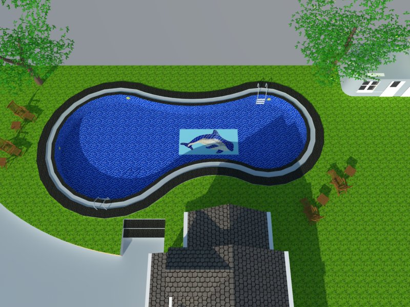 Bản vẽ phối cảnh thiết kế bể bơi 10