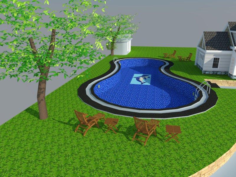 Bản vẽ phối cảnh thiết kế bể bơi 11