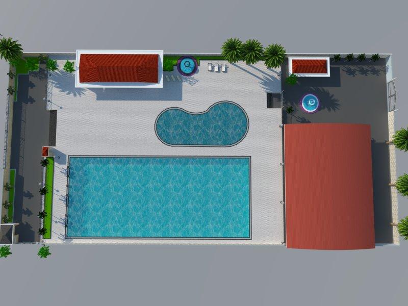 Bản vẽ phối cảnh thiết kế bể bơi 13