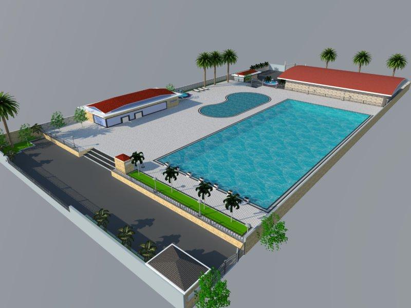 Bản vẽ phối cảnh thiết kế bể bơi 14