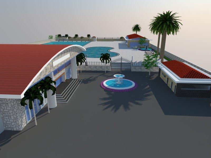 Bản vẽ phối cảnh thiết kế bể bơi 15