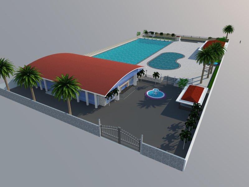 Bản vẽ phối cảnh thiết kế bể bơi 16