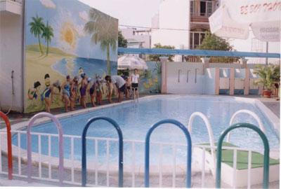 xây dựng bể bơi trường mầm non rạng đông 1