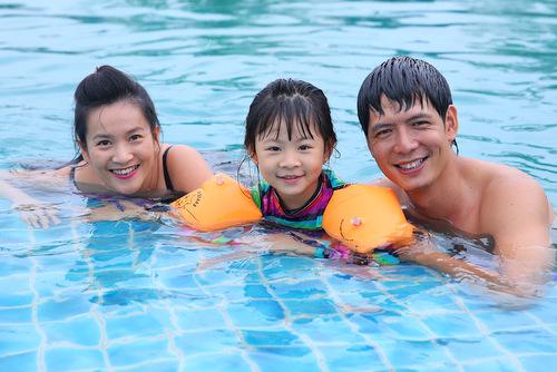 Tận hưởng không gian bơi lội tuyệt vời