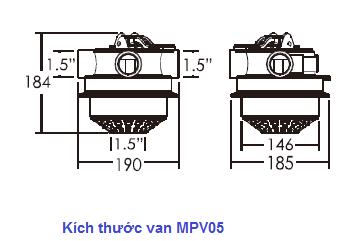 MPV05 valve size