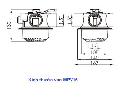 MPV16 valve size